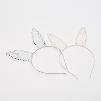 Set of 2 - Sequin Applique Detail Hair Band