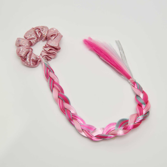 Elastic Hairband with Braid Extension