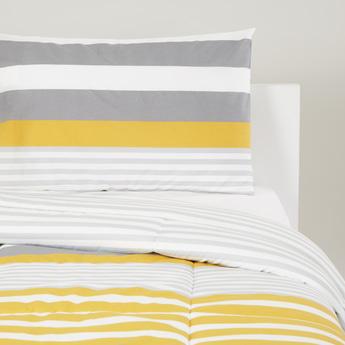 Stripes Print 2-Piece Comforter Set - 220x160 cms