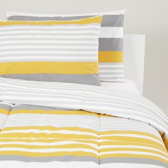 Stripes Print 3-Piece Comforter Set - 230x220 cms