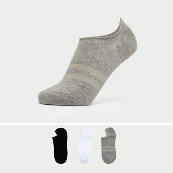 Set of 3 - Textured No-Show Socks