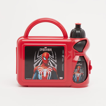 Spider-Man Print Lunchbox with Water Bottle