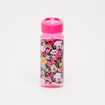Minnie Mouse Print Water Bottle with Flip Spout - 500 ml