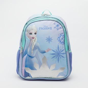 Elsa Print Backpack with Adjustable Shoulder Straps - 16 Inches