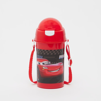 قارورة مياه بحزام قابل للتّعديل وطبعات سيّارات - 500 مل