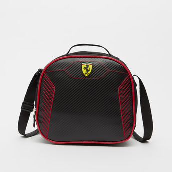 Ferrari Textured Lunch Bag with Adjustable Strap and Zip Closure