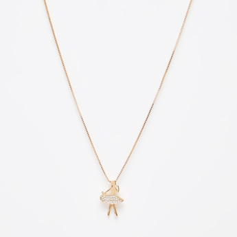 Studded Pendant Necklace with Lobster Clasp