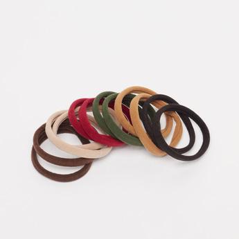12-Piece Plain Elastic Round Bands
