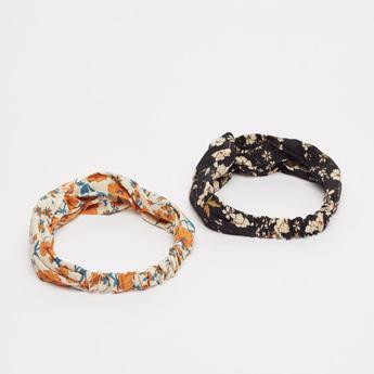 Set of 2 - Floral Print Hair Bands