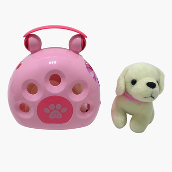 Dog Soft Toy with Carrier Set