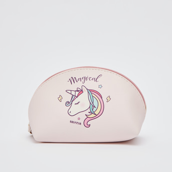 Unicorn Print Travel Pouch