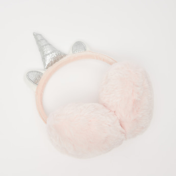 Plush Earmuffs with Unicorn Accent