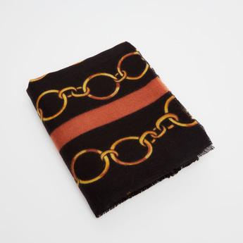 Chain Print Woolen Scarf