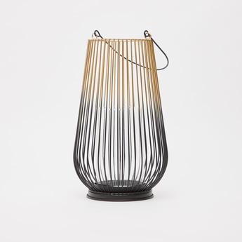 Tow-Toned Decorative Metal Lantern