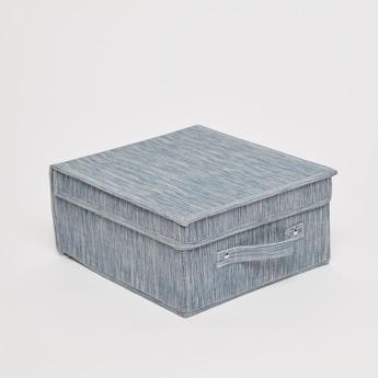 صندوق تخزين مربع بارز الملمس- 28x33x15 سم