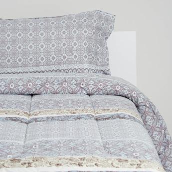 Floral Print 2-Piece Comforter Set - 220x160 cms
