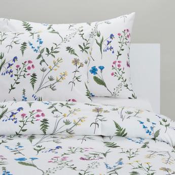 Floral Print 3-Piece Comforter Set - 230x220 cms
