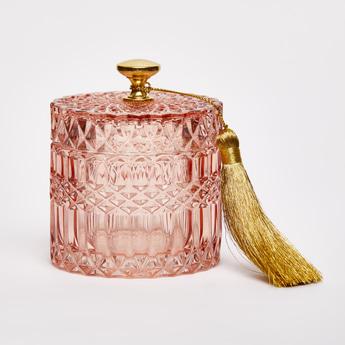Decorative Glass Jar with Lid