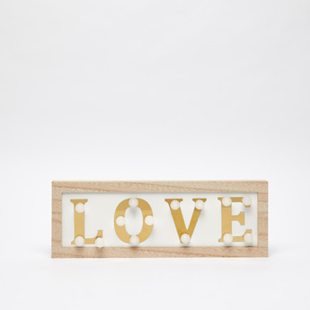 Decorative Love Text with LED Lights