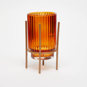 Glass Candleholder with Stand