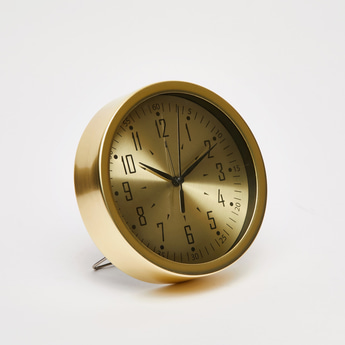 Circular Table Clock with Stand