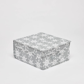 All-Over Print Storage Box with Lid and Handles - 28x33x15 cms