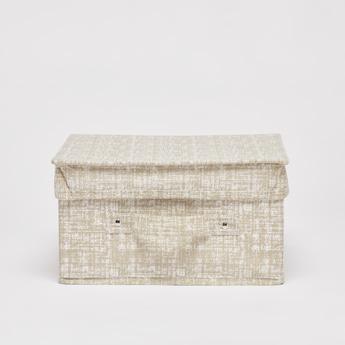 صندوق تخزين بارز الملمس بمقبض- 33x28x15 سم