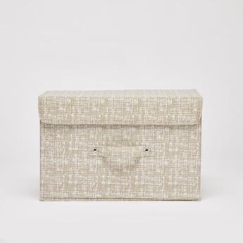 صندوق تخزين بارز الملمس بخطّاف وحلقة إغلاق - 38x25x25 سم