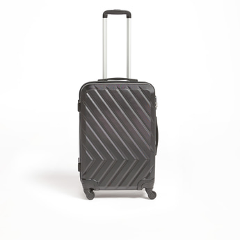 Patterned Travel Hard Case with Wheels and Retractable Handle - 44x27x64 cms