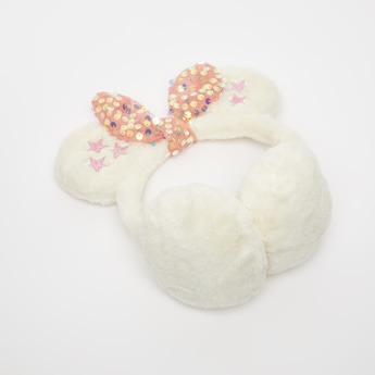 Bow Applique Detail Ear Muffs