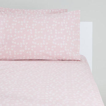 Printed 3-Piece King Fitted Sheet and Pillow Cover Set - 200x180x25 cms