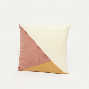 Colourblocked Filled Cushion - 45x45 cms