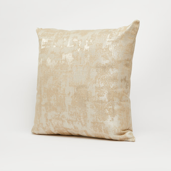Textured Filled Cushion with Zipper Closure - 43x43 cms