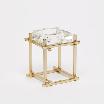 Square Candleholder with Stand