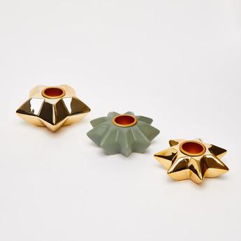 Set of 3 - Star Shaped Candleholder