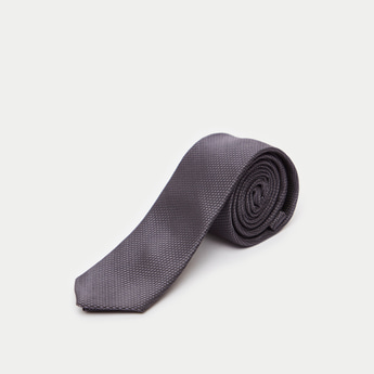 Textured Slim Tie with Keeper Loop