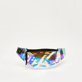 Holographic Fanny Pack with Adjustable Strap and Zip Closure