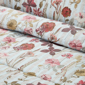 Floral Print 2-Piece Comforter Set - 160x220 cms