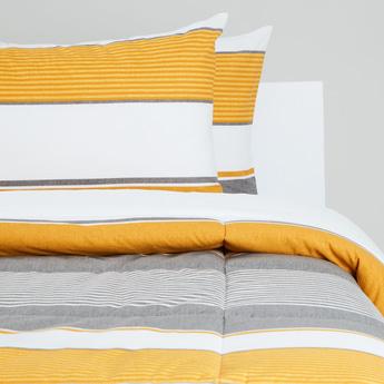 Striped 3-Piece Single Comforter Set - 220x160 cms