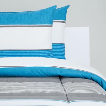 Striped 3-Piece King Size Comforter Set - 230x220 cms
