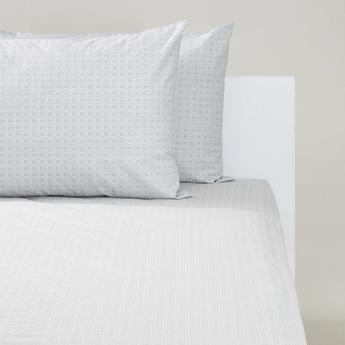 طقم مفروشات سرير فردي 3 قطع بطبعات - 200x90 سم