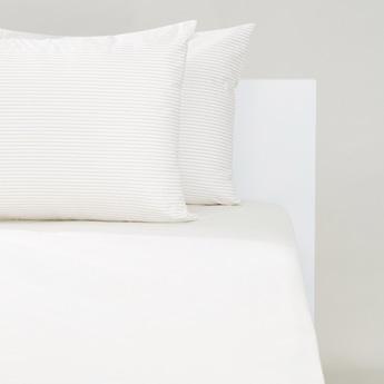 طقم مفروشات سرير مخطط من 3 قطع - 200x150 سم