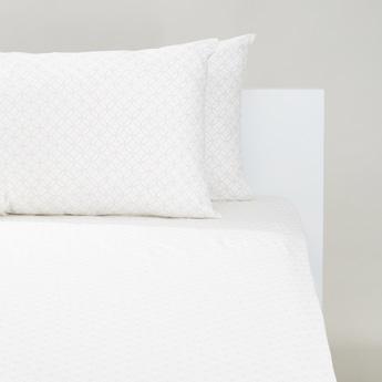 طقم مفروشات سرير كينج 3 قطع بطبعات - 200x180 سم