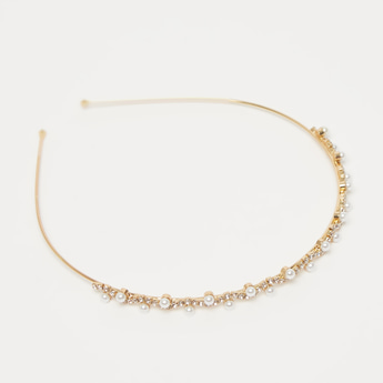Pearl and Crystal Embellished Hairband