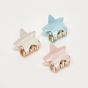 Set of 3 - Star Shaped Hair Clamps