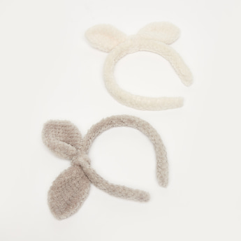 Set of 2 - Textured Applique Detail Hair Band