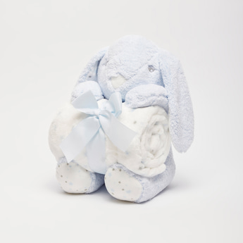 Textured Blanket with Plush Toy - 100x75 cms