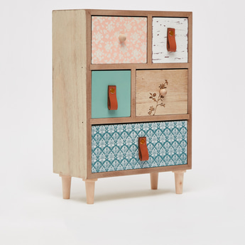 Decorative Printed Table Top Jewellery Box with Drawers