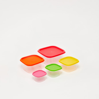 Set of 5 - Assorted Square Storage Container with Airtight Lid