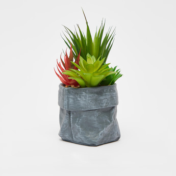 Artificial Succulent Plants with Textured Pot